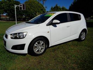 2012 Holden Barina TM MY13 CD White 5 Speed Manual Hatchback.