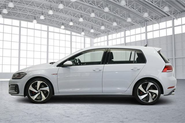 Used Volkswagen Golf 7.5 MY18 GTI DSG Victoria Park, 2018 Volkswagen Golf 7.5 MY18 GTI DSG White 6 Speed Sports Automatic Dual Clutch Hatchback