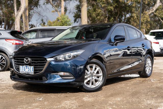 Used Mazda 3 BN5476 Neo SKYACTIV-MT Sport Mornington, 2018 Mazda 3 BN5476 Neo SKYACTIV-MT Sport Deep Crystal Blue 6 Speed Manual Hatchback