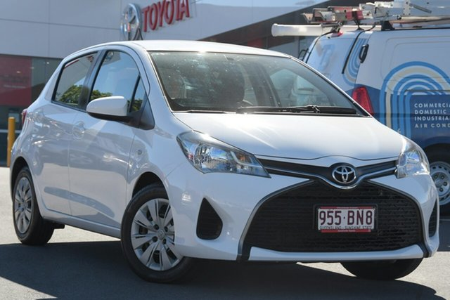 Pre-Owned Toyota Yaris NCP130R Ascent Woolloongabba, 2016 Toyota Yaris NCP130R Ascent White 4 Speed Automatic Hatchback