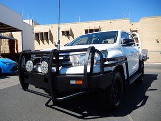 2015 Toyota Hilux GUN126R SR (4x4) Glacier White 6 Speed Automatic Dual Cab Chassis