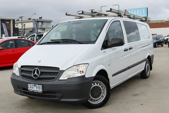 Used Mercedes-Benz Vito 639 MY11 113CDI LWB Coburg North, 2012 Mercedes-Benz Vito 639 MY11 113CDI LWB White 5 Speed Automatic Van