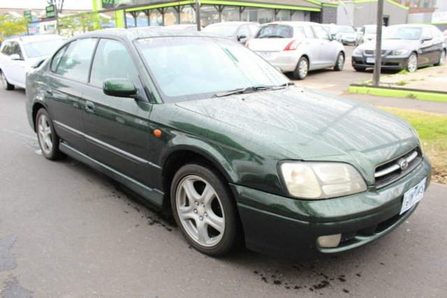 Used Subaru Liberty B3 RX AWD West Footscray, 1999 Subaru Liberty B3 RX AWD Green 5 Speed Manual Sedan