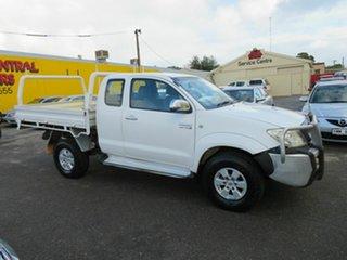 2008 Toyota Hilux KUN26R 08 Upgrade SR5 (4x4) White 5 Speed Manual X Cab Pickup.