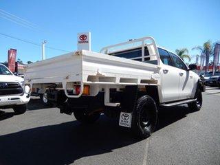 2015 Toyota Hilux GUN126R SR (4x4) Glacier White 6 Speed Automatic Dual Cab Chassis.