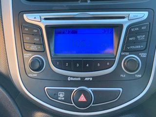 2012 Hyundai Accent RB Active Black 4 Speed Sports Automatic Hatchback