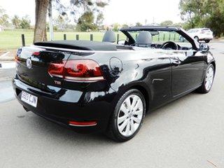 2013 Volkswagen Golf VI MY14 118TSI DSG Black 7 Speed Sports Automatic Dual Clutch Cabriolet.