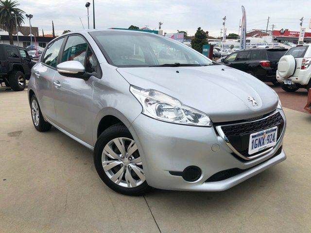 Used Peugeot 208 Active Victoria Park, 2014 Peugeot 208 Active Silver 5 Speed Manual Hatchback