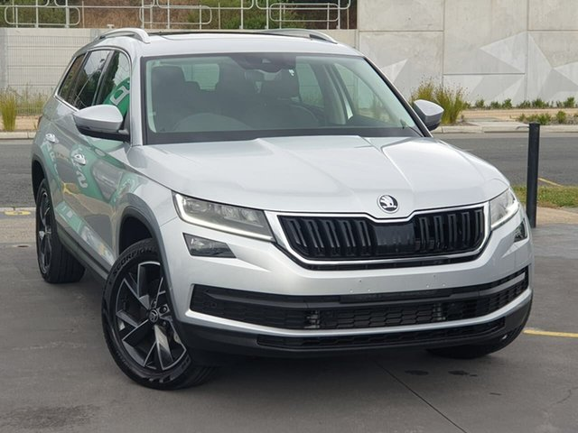 Demo Skoda Kodiaq NS MY20 132TSI DSG Seaford, 2019 Skoda Kodiaq NS MY20 132TSI DSG Silver 7 Speed Sports Automatic Dual Clutch Wagon