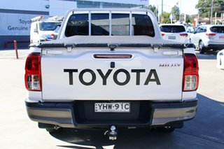 2017 Toyota Hilux TGN121R Workmate Double Cab 4x2 Glacier White 6 Speed Automatic Dual Cab