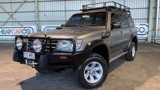 2002 Nissan Patrol GU III MY2002 ST Grey 5 Speed Manual Wagon.