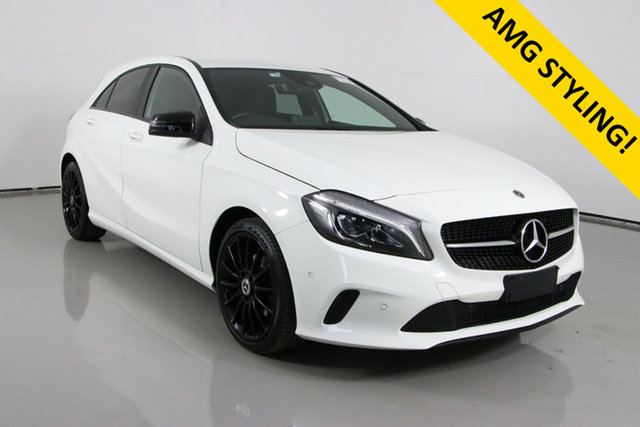 Used Mercedes-Benz A180 176 MY18 Bentley, 2018 Mercedes-Benz A180 176 MY18 White 7 Speed Automatic Hatchback