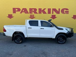 2017 Toyota Hilux GUN125R Workmate Double Cab White 6 Speed Manual Utility