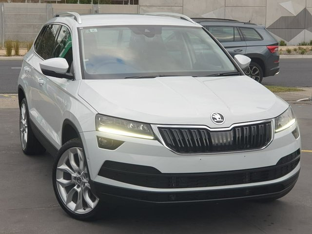 Used Skoda Karoq NU MY20 110TSI DSG FWD Seaford, 2019 Skoda Karoq NU MY20 110TSI DSG FWD White 7 Speed Sports Automatic Dual Clutch Wagon