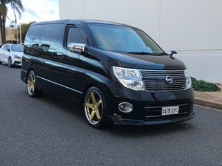 2008 Nissan Elgrand E51 Highway Star Black Pearlescent 5 Speed Automatic Wagon.