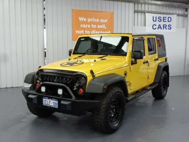 Used Jeep Wrangler JK Unlimited Sport Rockingham, 2007 Jeep Wrangler JK Unlimited Sport Yellow 4 Speed Automatic Softtop