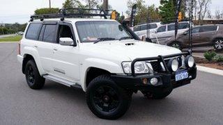 2013 Nissan Patrol Y61 GU 9 ST Pearl White 5 Speed Manual Wagon.