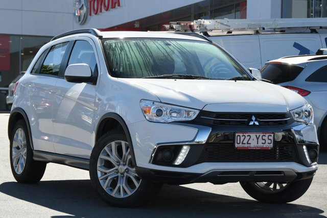 Pre-Owned Mitsubishi ASX XC MY19 ES 2WD Woolloongabba, 2018 Mitsubishi ASX XC MY19 ES 2WD White 1 Speed Constant Variable Wagon