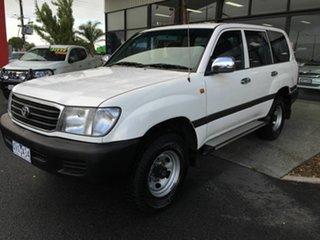 2000 Toyota Landcruiser FZJ105R GXL (4x4) White 4 Speed Automatic 4x4 Wagon.