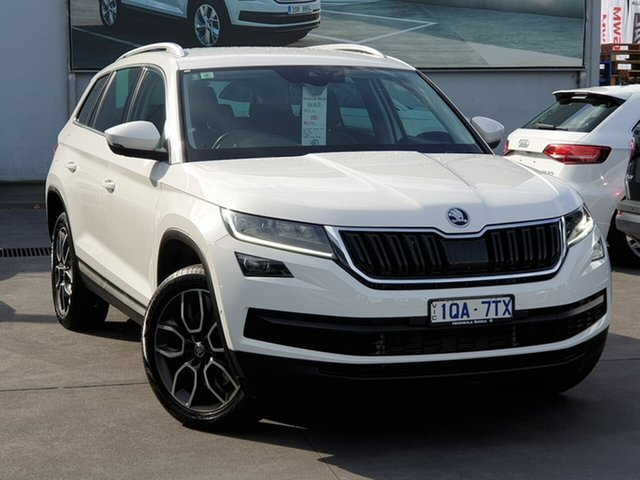 Used Skoda Kodiaq NS MY19 132TSI DSG Seaford, 2019 Skoda Kodiaq NS MY19 132TSI DSG White 7 Speed Sports Automatic Dual Clutch Wagon