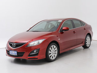 2012 Mazda 6 GH MY11 Touring Red 5 Speed Auto Activematic Hatchback.