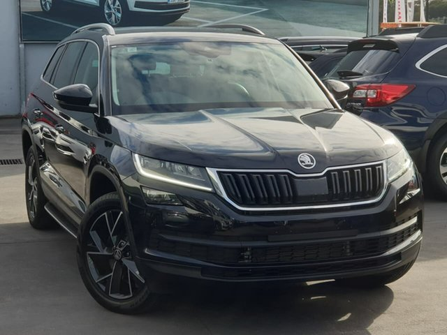 Used Skoda Kodiaq NS MY19 132TSI DSG Seaford, 2019 Skoda Kodiaq NS MY19 132TSI DSG Black 7 Speed Sports Automatic Dual Clutch Wagon
