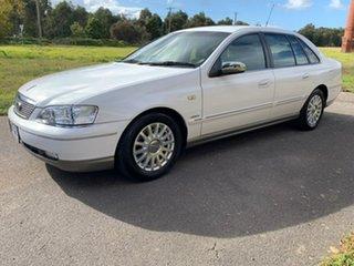 2005 Ford Fairlane BA Mk II Ghia White 6 Speed Sports Automatic Sedan.