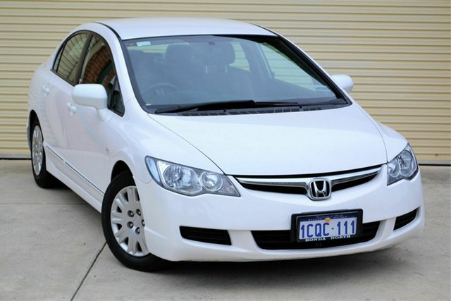 Used Honda Civic 8th Gen MY07 VTi Mount Lawley, 2007 Honda Civic 8th Gen MY07 VTi White 5 Speed Automatic Sedan