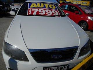 2008 Ford Falcon BF Mk II SR White 4 Speed Sports Automatic Sedan.