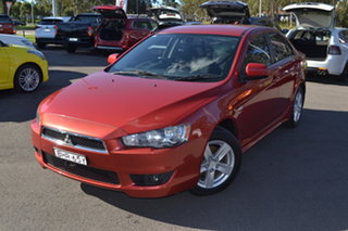 2008 Mitsubishi Lancer CJ MY09 VR Red 6 Speed Constant Variable Sedan.