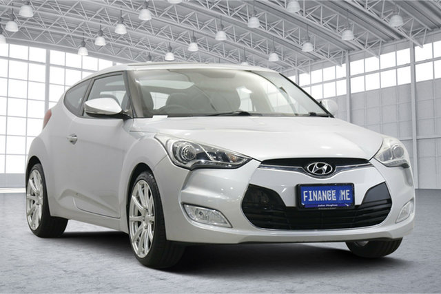 Used Hyundai Veloster FS2 + Coupe D-CT Victoria Park, 2013 Hyundai Veloster FS2 + Coupe D-CT Sleek Silver 6 Speed Sports Automatic Dual Clutch Hatchback