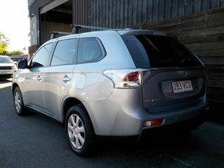 2012 Mitsubishi Outlander ZJ MY13 ES 4WD Silver 6 Speed Constant Variable Wagon