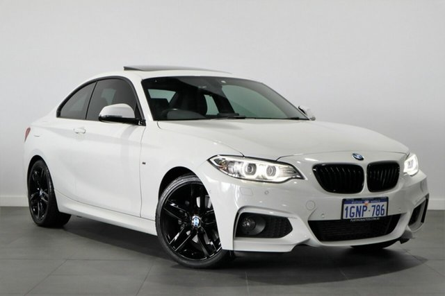 Used BMW 2 Series F22 220i M Sport Bayswater, 2015 BMW 2 Series F22 220i M Sport White 8 Speed Sports Automatic Coupe