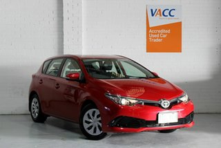 2017 Toyota Corolla ZRE182R Ascent S-CVT Red 7 Speed Constant Variable Hatchback