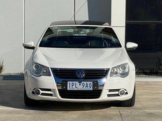 2009 Volkswagen EOS 1F MY09 103TDI White 6 Speed Manual Convertible.