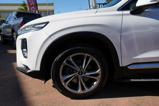2018 Hyundai Santa Fe TM Highlander CRDi Dark Burg AWD White 8 Speed Automatic Wagon.
