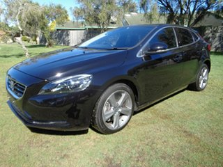 2015 Volvo V40 M Series MY16 T4 Adap Geartronic Luxury Black 6 Speed Sports Automatic Hatchback.