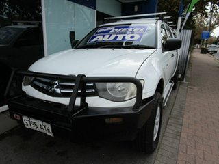 2010 Mitsubishi Triton MN MY10 GLX (4x4) White 4 Speed Automatic 4x4 Cab Chassis.