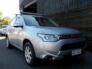 2012 Mitsubishi Outlander ZJ MY13 ES 4WD Silver 6 Speed Constant Variable Wagon.