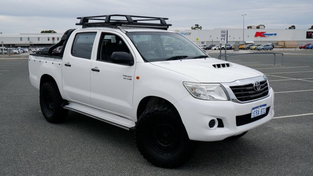 Used Toyota Hilux KUN26R MY12 SR Double Cab Maddington, 2011 Toyota Hilux KUN26R MY12 SR Double Cab White 4 Speed Automatic Utility