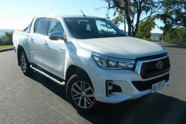 Used Toyota Hilux GUN126R SR5 Double Cab Gladstone, 2020 Toyota Hilux GUN126R SR5 Double Cab White 6 Speed Sports Automatic Utility