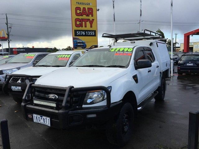 Used Ford Ranger PX XL 3.2 (4x4) Traralgon, 2013 Ford Ranger PX XL 3.2 (4x4) White 6 Speed Automatic Double Cab Pick Up