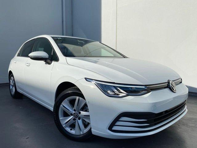 New Volkswagen Golf 8 MY21 110TSI Liverpool, 2021 Volkswagen Golf 8 MY21 110TSI Pure White 6 Speed Manual Hatchback