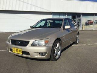2005 Lexus IS GXE10R MY04.5 IS200 Sports Gold 4 Speed Automatic Sedan.