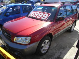 2003 Subaru Forester 79V MY03 XS AWD Red 5 Speed Manual Wagon.