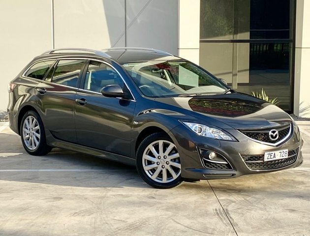Used Mazda 6 GH1052 MY12 Touring Templestowe, 2012 Mazda 6 GH1052 MY12 Touring Grey 5 Speed Sports Automatic Wagon