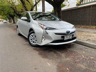 2017 Toyota Prius ZVW50R Silver 1 Speed Constant Variable Liftback Hybrid.