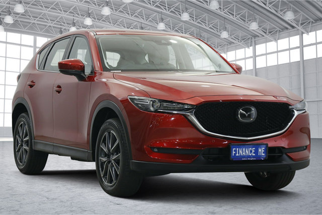Used Mazda CX-5 KF4WLA Akera SKYACTIV-Drive i-ACTIV AWD Victoria Park, 2017 Mazda CX-5 KF4WLA Akera SKYACTIV-Drive i-ACTIV AWD Red 6 Speed Sports Automatic Wagon