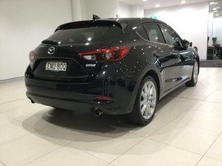 2017 Mazda 3 BN5438 SP25 SKYACTIV-Drive GT Jet Black/bn 6 Speed Sports Automatic Hatchback.