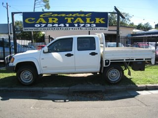 2008 Holden Colorado RC LX (4x4) White 5 Speed Manual Crew Cab Chassis.